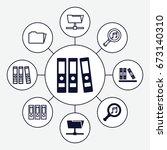 organize icons set. set of 9... | Shutterstock .eps vector #673140310