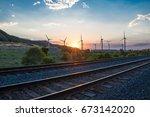 across the tracks | Shutterstock . vector #673142020