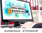 data driven marketing concept...   Shutterstock . vector #673146418