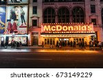 new york  usa   february 10 ... | Shutterstock . vector #673149229