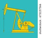 oil pump  3d illustration | Shutterstock . vector #673157566