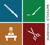 surgeon icons set. set of 4... | Shutterstock .eps vector #673161298