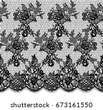 seamless vector black lace... | Shutterstock .eps vector #673161550