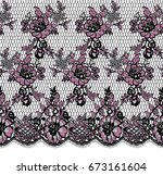 seamless vector lace pattern | Shutterstock .eps vector #673161604