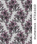seamless vector lace pattern | Shutterstock .eps vector #673161610