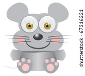 Mouse baby funny cartoon illustration - stock vector