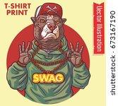 staffordshire terrier rap... | Shutterstock .eps vector #673167190