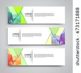 vector set abstract geometric... | Shutterstock .eps vector #673171888