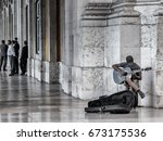 street performanceis the act of ... | Shutterstock . vector #673175536