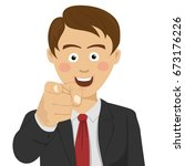young successful businessman...   Shutterstock .eps vector #673176226
