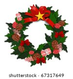 christmas gift and decoration | Shutterstock .eps vector #67317649