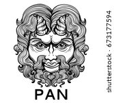 pan. the god of fertility and... | Shutterstock .eps vector #673177594