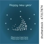 new year greeting card  eps10 | Shutterstock .eps vector #67317874