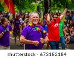 portland  oregon  usa   june 18 ... | Shutterstock . vector #673182184