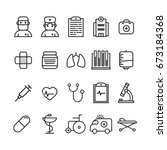 medical icons icon logo... | Shutterstock .eps vector #673184368
