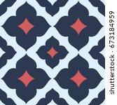 seamless floral patterns tile. | Shutterstock .eps vector #673184959
