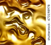 flowing gold abstract background | Shutterstock . vector #673198978