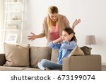 people  conflict and family... | Shutterstock . vector #673199074