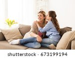 people  trust and family... | Shutterstock . vector #673199194