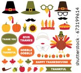 thanksgiving vector design... | Shutterstock .eps vector #673199614