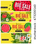 summer sale abstract banner... | Shutterstock .eps vector #673200160
