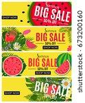 summer sale abstract banner... | Shutterstock .eps vector #673200160