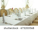 beautifully organized event  ... | Shutterstock . vector #673203568