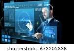 business  people  augmented... | Shutterstock . vector #673205338
