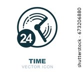 clock logo. watch icon. time... | Shutterstock .eps vector #673206880