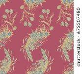 modern zendoodle rapport.... | Shutterstock .eps vector #673207480