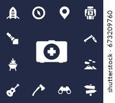 set of 13 picnic icons set...