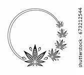 round black and white frame of... | Shutterstock .eps vector #673212544