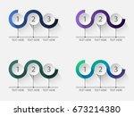 set of circles three step... | Shutterstock .eps vector #673214380