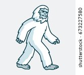 cartoon yeti monster... | Shutterstock .eps vector #673227580