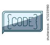 blue shading silhouette of... | Shutterstock .eps vector #673235980