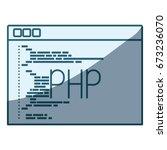 blue shading silhouette of... | Shutterstock .eps vector #673236070