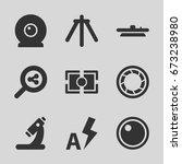 lens icons set. set of 9 lens...   Shutterstock .eps vector #673238980