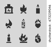 burn icons set. set of 9 burn... | Shutterstock .eps vector #673239046