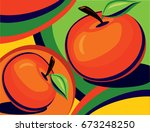 Abstract Apples In A Vector