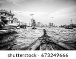 old dubai with the old... | Shutterstock . vector #673249666
