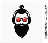 hipster. hipster black and... | Shutterstock .eps vector #673263124