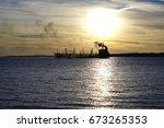 Oil Tanker Discharging Black...
