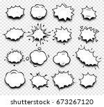 bubble comic speech. retro talk ...   Shutterstock .eps vector #673267120