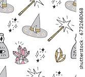 cute hand drawn cartoon...   Shutterstock .eps vector #673268068
