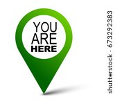 Stock vector you are here map pointer 673292383