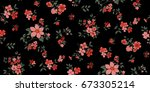 seamless floral pattern in... | Shutterstock .eps vector #673305214