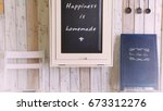 bangkok  1 jul 17   small cafe... | Shutterstock . vector #673312276