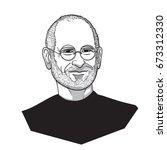 steve jobs vector illustration | Shutterstock .eps vector #673312330