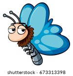 Butterfly With Blue Wings...