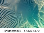 abstract polygonal space low... | Shutterstock . vector #673314370